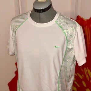 Green & white Dri-fit Nike shirt